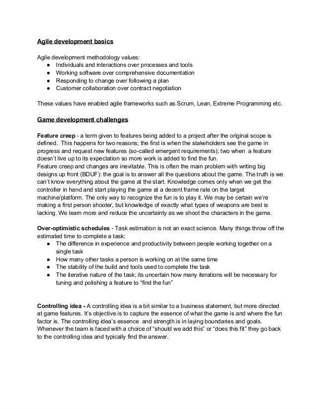 Agiledevelopmentbasics Agiledevelopmentmethodologyvalues: ● Individualsandinteractionsoverprocessesandtools ● W...