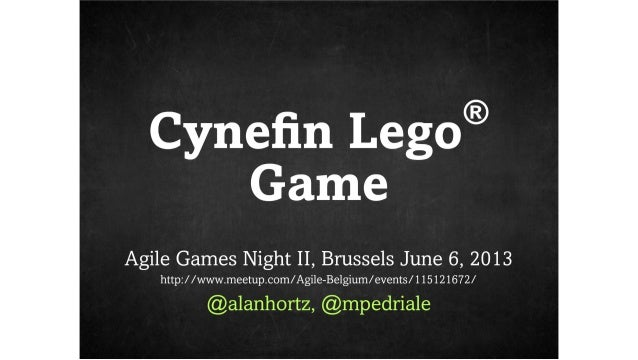 Agile Games Night II (Brussels) Cynefin Lego Game
