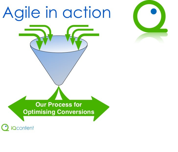 Agile in action      Our Process for  Optimising Conversions