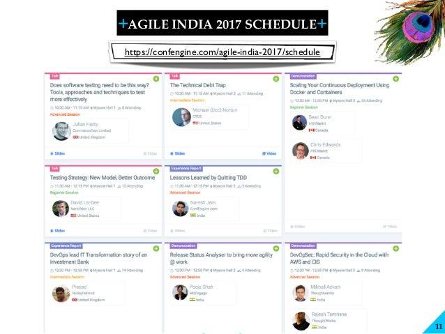 + + SHARELEARN NETWORK AGILE INDIA 2017 SCHEDULE 11 https://confengine.com/agile-india-2017/schedule