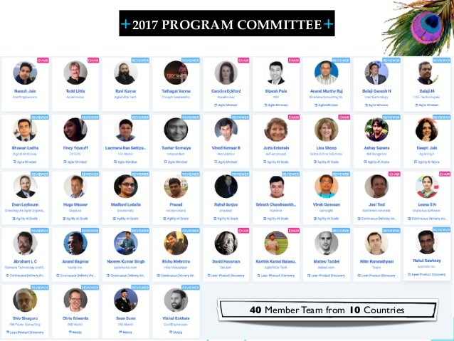 + + SHARELEARN NETWORK 2017 PROGRAM COMMITTEE 12 40 Member Team from 10 Countries