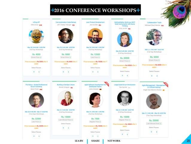 + + SHARELEARN NETWORK 2016 CONFERENCE WORKSHOPS 25