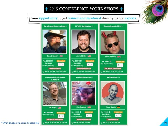 + + SHARELEARN NETWORK 2015 CONFERENCE WORKSHOPS 26 Your opportunity to get trained and mentored directly by the experts. ...