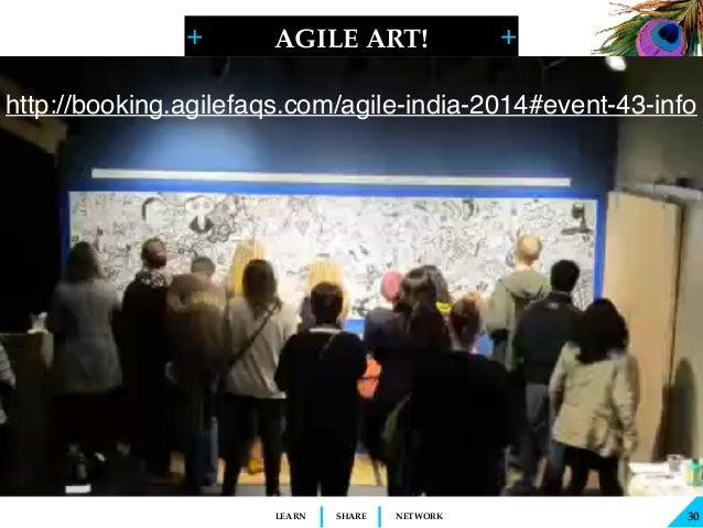 + + SHARELEARN NETWORK AGILE ART! 30 http://booking.agilefaqs.com/agile-india-2014#event-43-info
