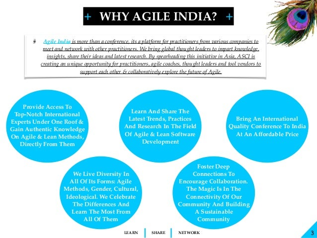 + + SHARELEARN NETWORK Agile India is more than a conference, its a platform for practitioners from various companies to m...