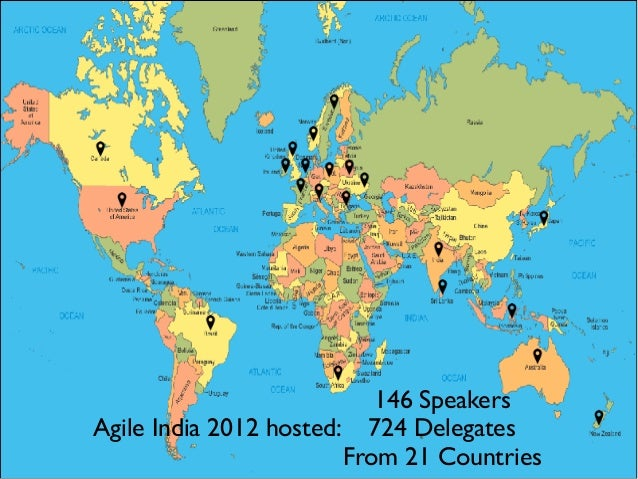 146 Speakers 724 Delegates From 21 Countries Agile India 2012 hosted:
