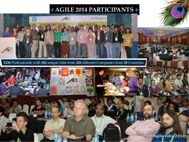 + + SHARELEARN NETWORK AGILE 2014 PARTICIPANTS 8 1236 Professionals with 342 unique roles from 226 different Companies fro...