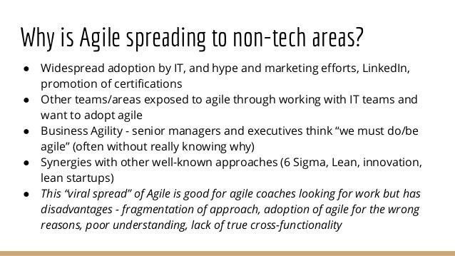 Agile In Non Technical Contexts - Lessons For Agile Coaches Slide 3
