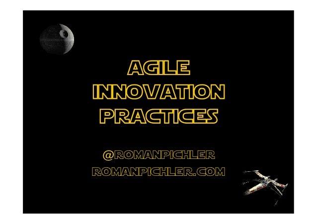 agileinnovation practices @romanpichlerromanpichler.com