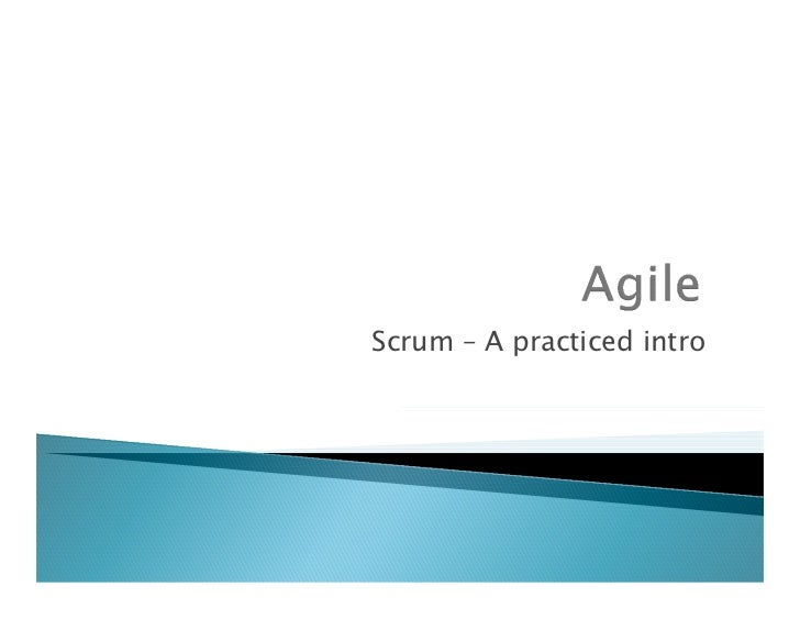 1.    Why Agile? – waterfall vs Agile2.    Agile Manifesto3.    Scrum – an overview4.    Key Roles in scrum5.    Story pla...
