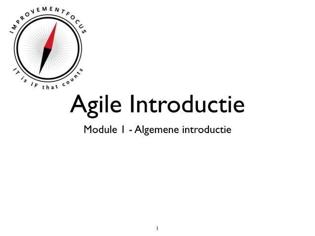 Agile intro   module 1