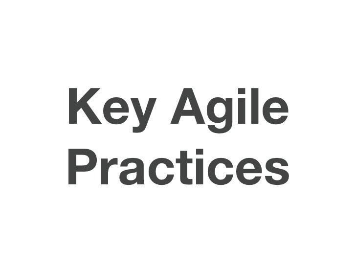 Key AgilePractices