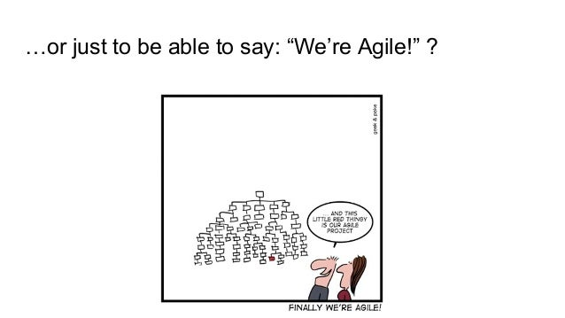 """…or just to be able to say: """"We're Agile!"""" ?"""