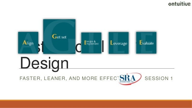 Instructional Design FASTER, LEANER, AND MORE EFFECTIVE  SESSION 1