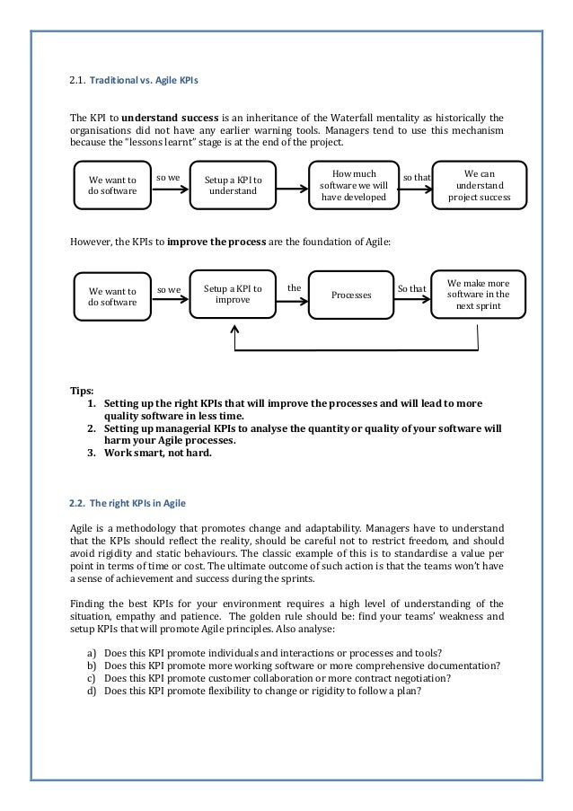 Agile KPIs vs. Traditional KPIs – A mind shift Slide 2