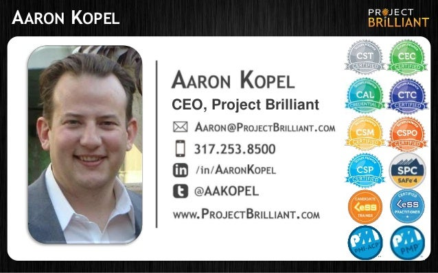 AARON KOPEL CEO, Project Brilliant