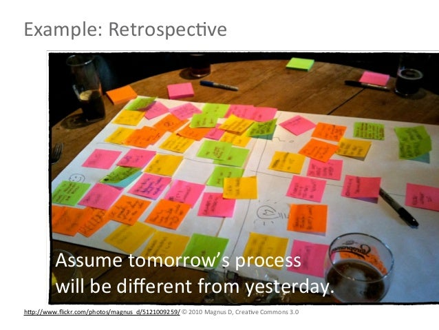 Example: RetrospecLve           Assume tomorrow's process           will be different from yesterday.hNp://ww...