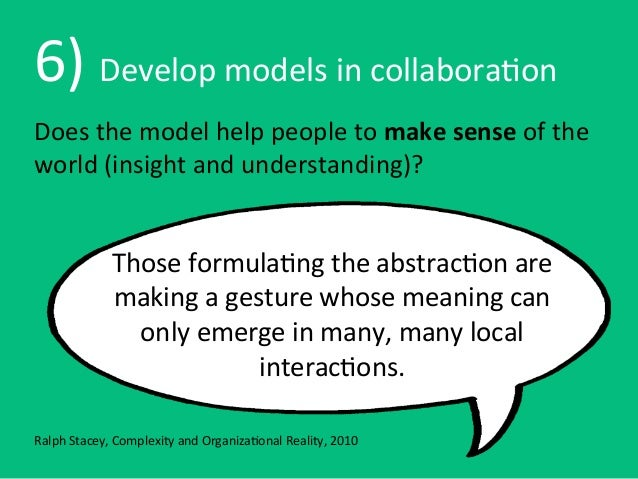 6) Develop models in collabora6onDoes the model help people to make sense of the world (insi...