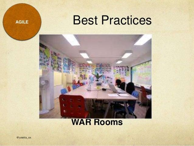 War Rooms Best Practices Amrita_ux Agile