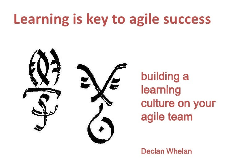 Learning is key to agile success<br />building a learning culture on your agile team<br />Declan Whelan<br />