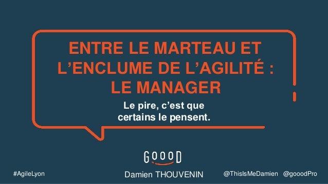 Le pire, c'est que certains le pensent. ENTRE LE MARTEAU ET L'ENCLUME DE L'AGILITÉ : LE MANAGER Damien THOUVENIN#AgileLyon...