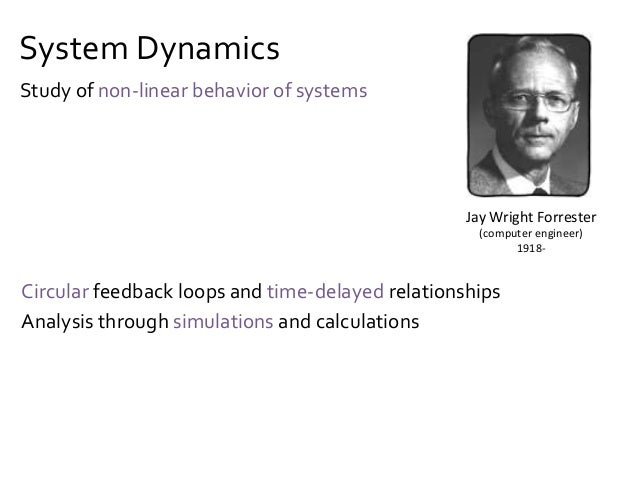 """SystemsThinking """"Problems"""" are part of a system View systems in a holistic manner Not a science, but a """"frame of mind"""" Pet..."""