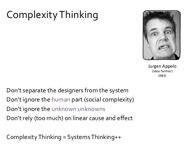 Exercise: ComplexityThinking