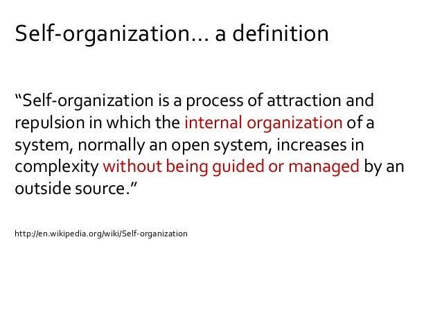 Organization without management?