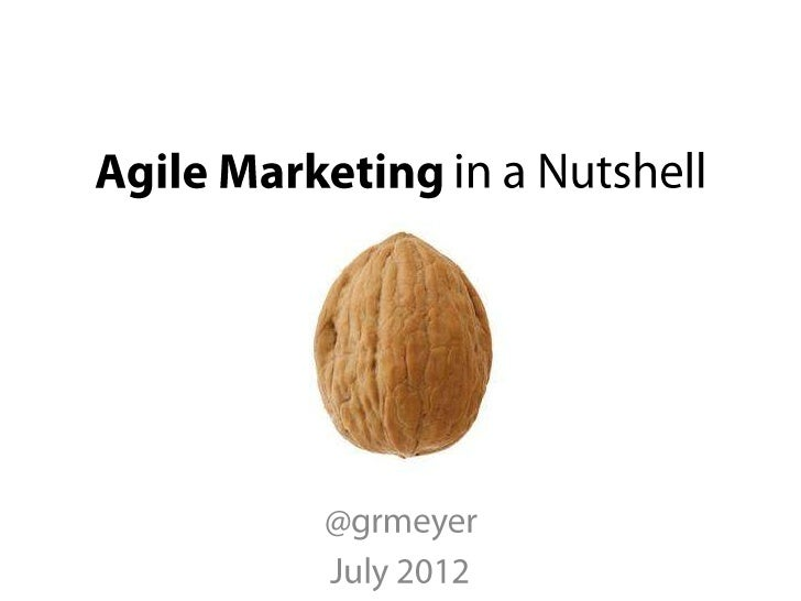•••    @grmeyer - Agile Marketing in a Nutshell - July 2012