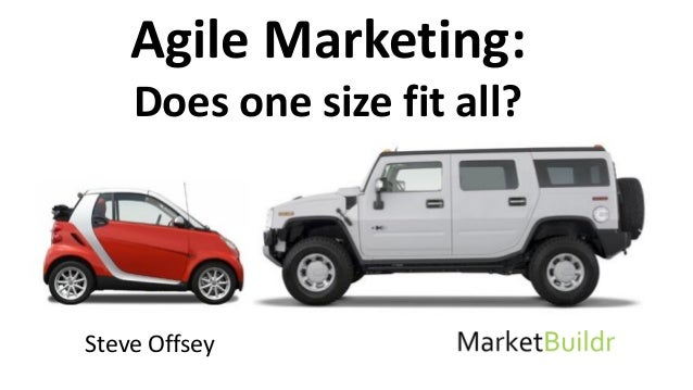 Steve Offsey Agile Marketing: Does one size fit all?