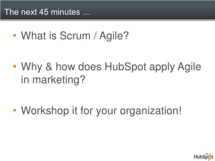 Marketing the Agile Way - Applying Scrum Outside of Develoment Slide 2