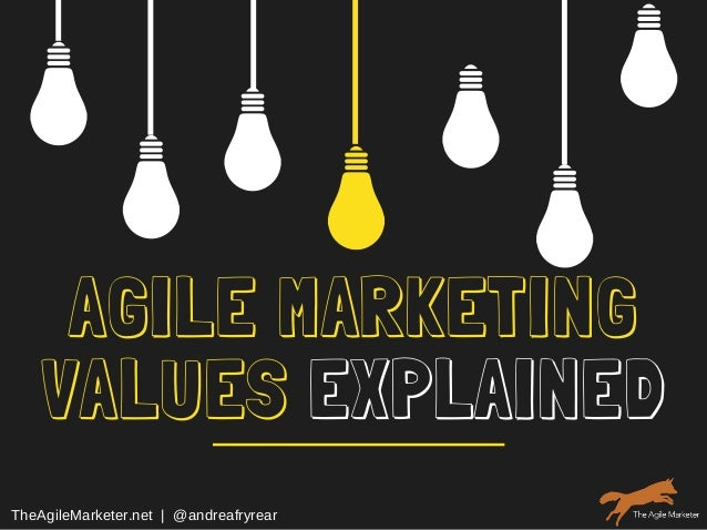 AGILE MARKETING VALUES EXPLAINED TheAgileMarketer.net  |  @andreafryrear