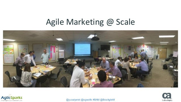 @yuvalyeret @sgwolfe #BAM @BosAgileM Agile Marketing @ Scale Boston Agile Marketing Meetup December 6, 2016 Yuval Yeret, A...
