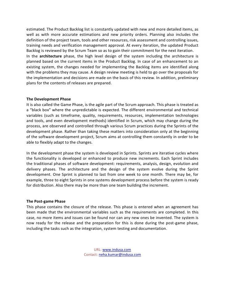 Indusa's Agile methodology (Scrum Method) Slide 2