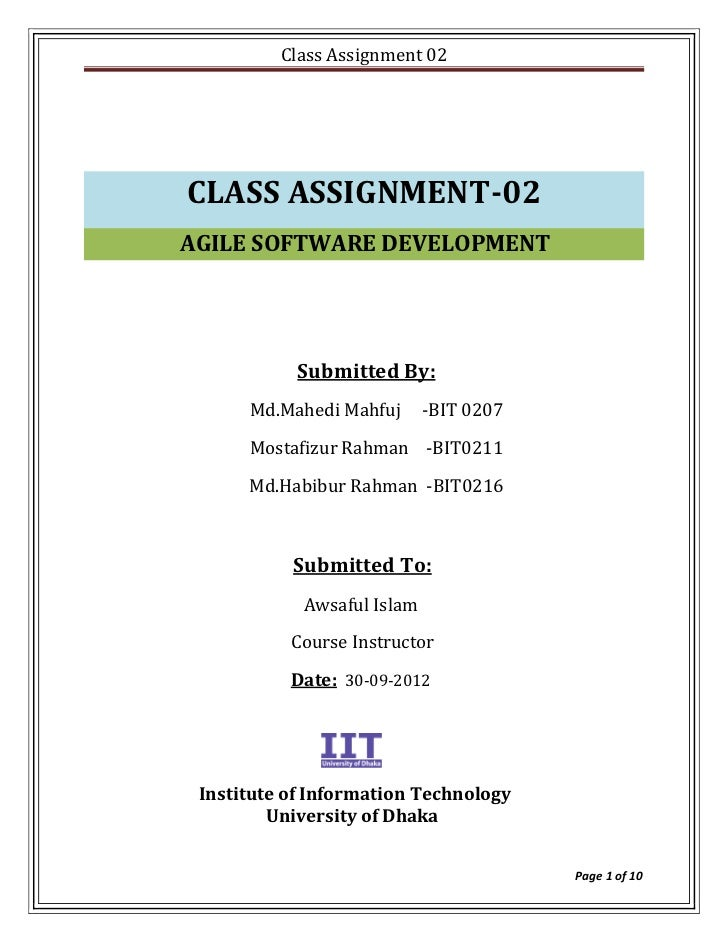 Class Assignment 02CLASS ASSIGNMENT-02AGILE SOFTWARE DEVELOPMENT            Submitted By:      Md.Mahedi Mahfuj      -BIT ...