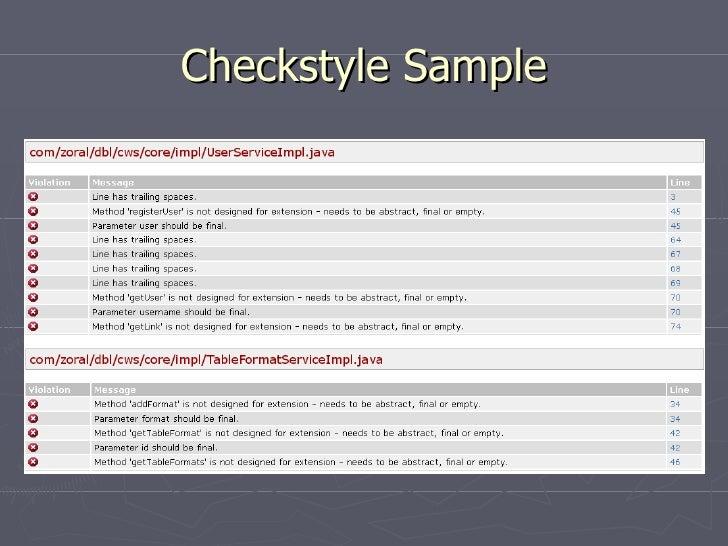Checkstyle Sample
