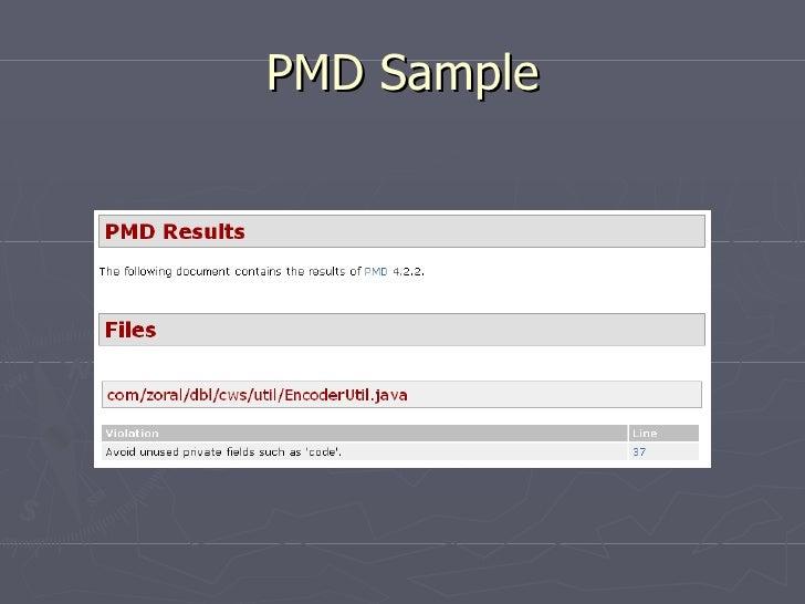 PMD Sample
