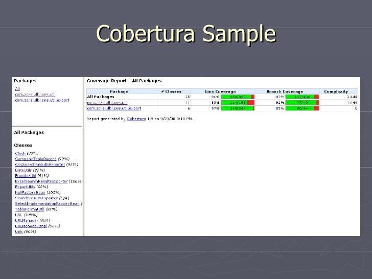 Cobertura Sample