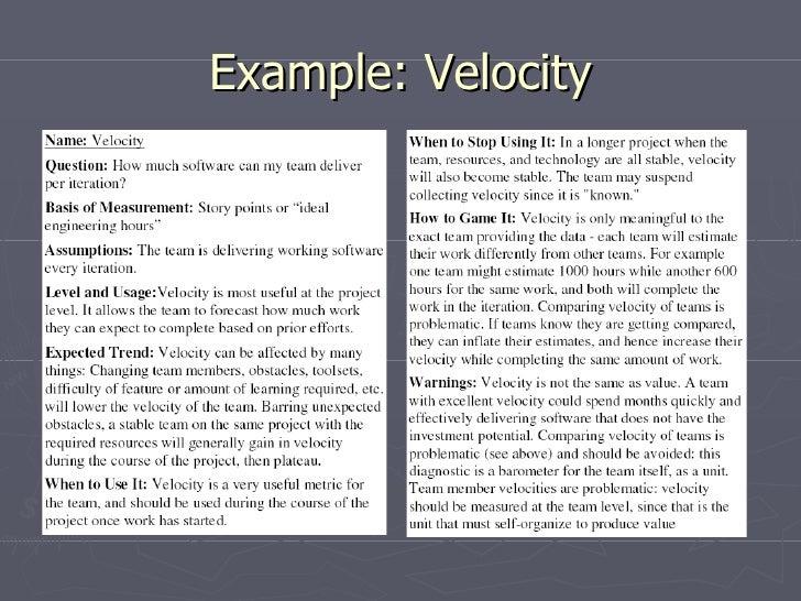 Example: Velocity