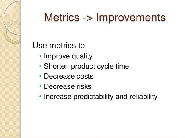 Agile metrics and quality Slide 2