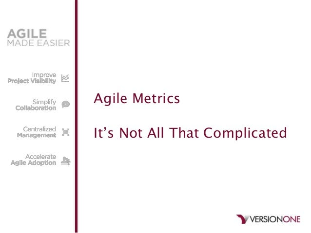 """Agile MetricsIt""""s Not All That Complicated"""