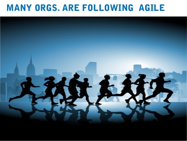 4 MANY ORGS. ARE FOLLOWING AGILE