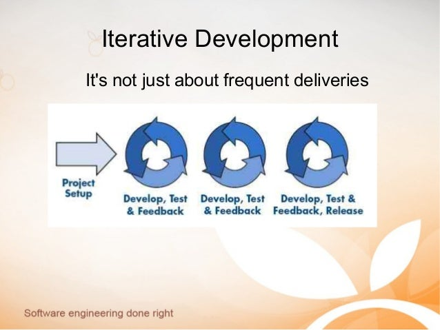Iterative Development It's not just about frequent deliveries