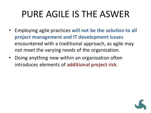 Pitfall #3 • Relating to superiors and/or staff members differently – The role of a project leader on an agile team is mor...