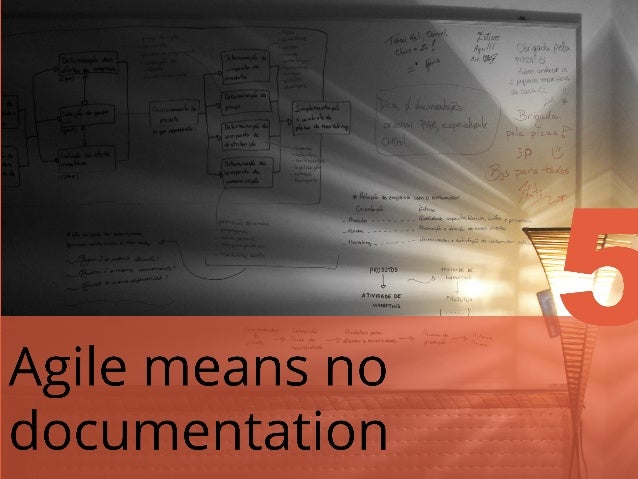 AGILE MEANS 'NO PLANNING' It also provides the project team with the ability to more easily and efficiently adapt to chang...