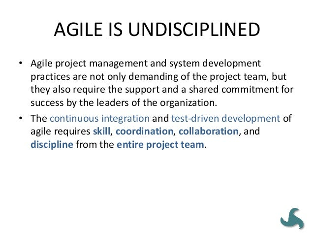 AGILE = SCRUM • Some agile practices can and should be leveraged to complement a waterfall approach also in organizations ...