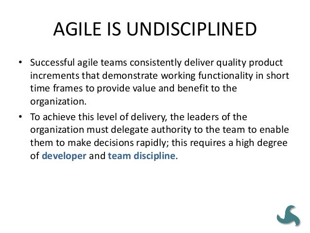 AGILE = SCRUM • Agile development methodologies have a greater chance of successfully achieving the desired outcomes when ...