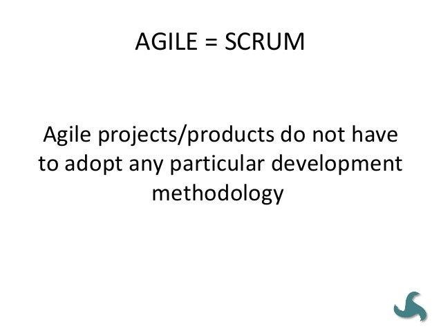 AGILE MEANS 'NO GOVERNANCE' • Most state organizations will find it difficult to allow project teams complete autonomy. • ...