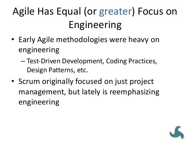IMPLEMENTING AGILE IS EASY • Import areas of evaluation: – organization's existing governance structure – project manageme...