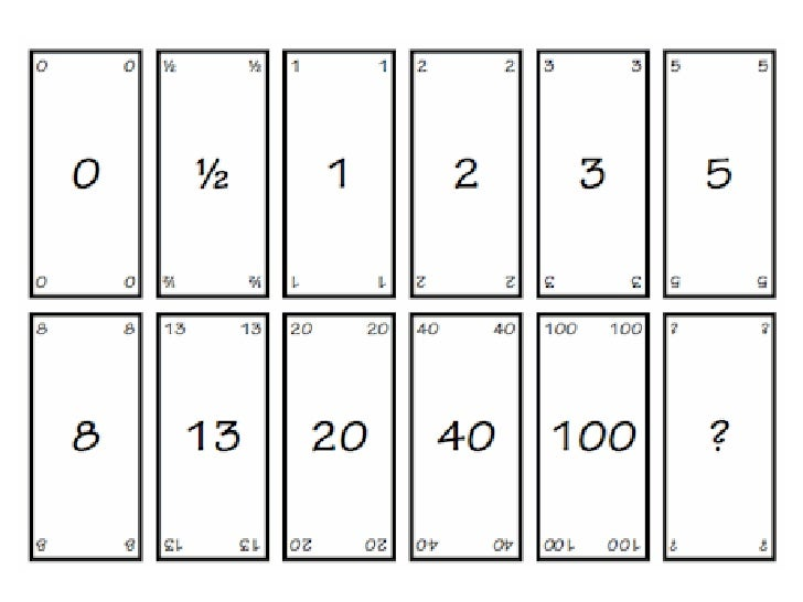 Agile nature for Planning poker cards template